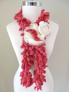 The Firebird Scarf designed for Susanna Kearsley, Author of The Firebird.