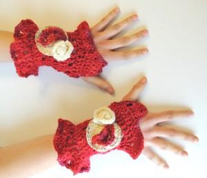 The Firebird Fingerless Gloves.