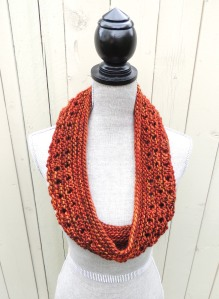Linear Lace Infinity Scarf