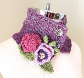 Pansy Cozy Collar Scarf