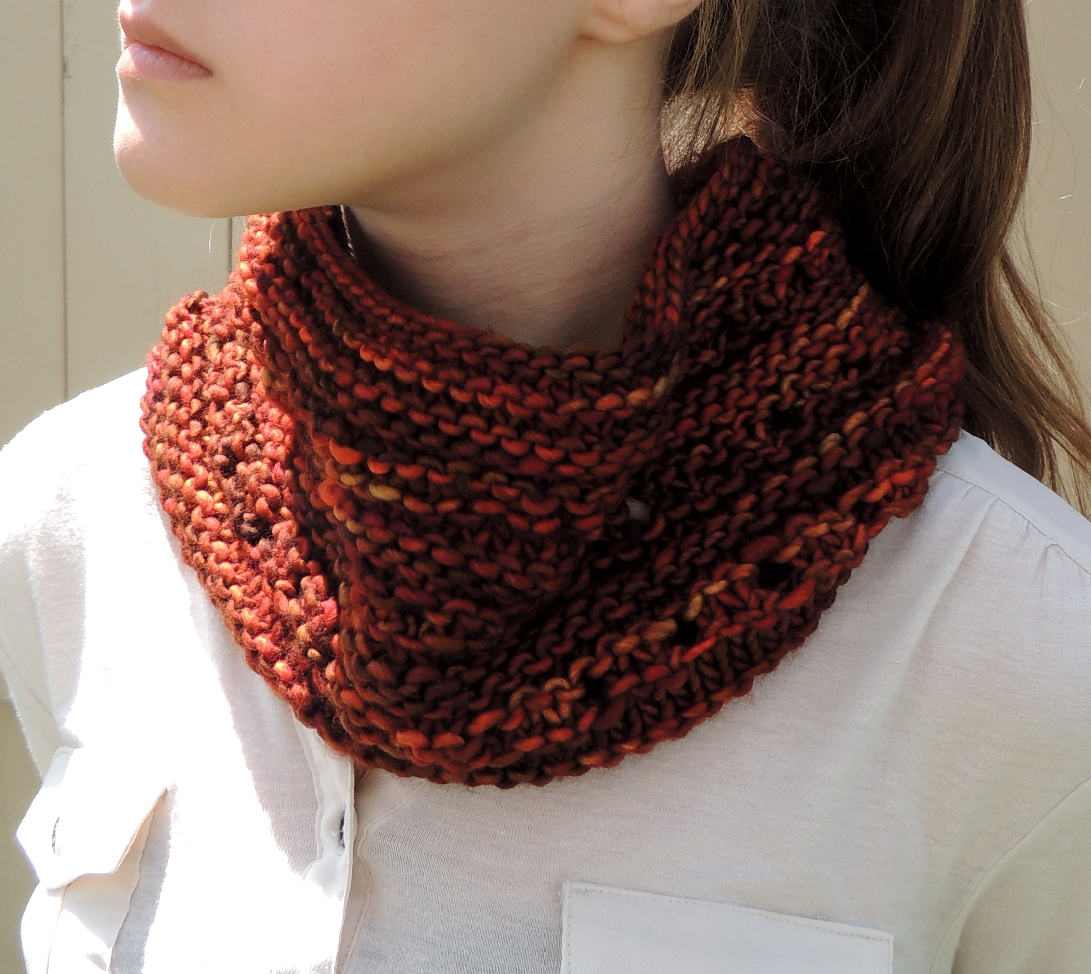 Free Pattern Rachelle Chunky Lace Cowl Scarf Valerie Baber Designs