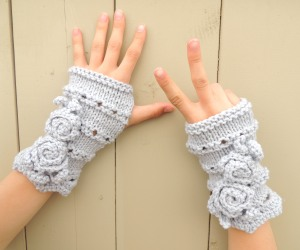 Rose Onie Fingerless Gloves