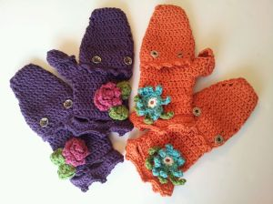 Embellished Convertible Mittens