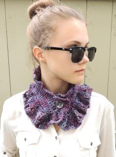 Ruffle Lace Collar Scarf
