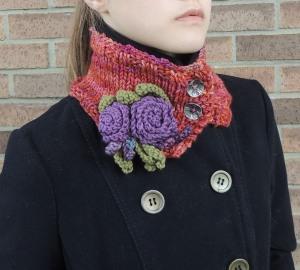 Eclectic Rose Collar Scarf Orange