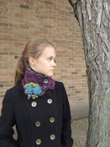 Eclectic Rose Collar Scarf Purple