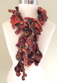 Waterfall scarf, sunset colours