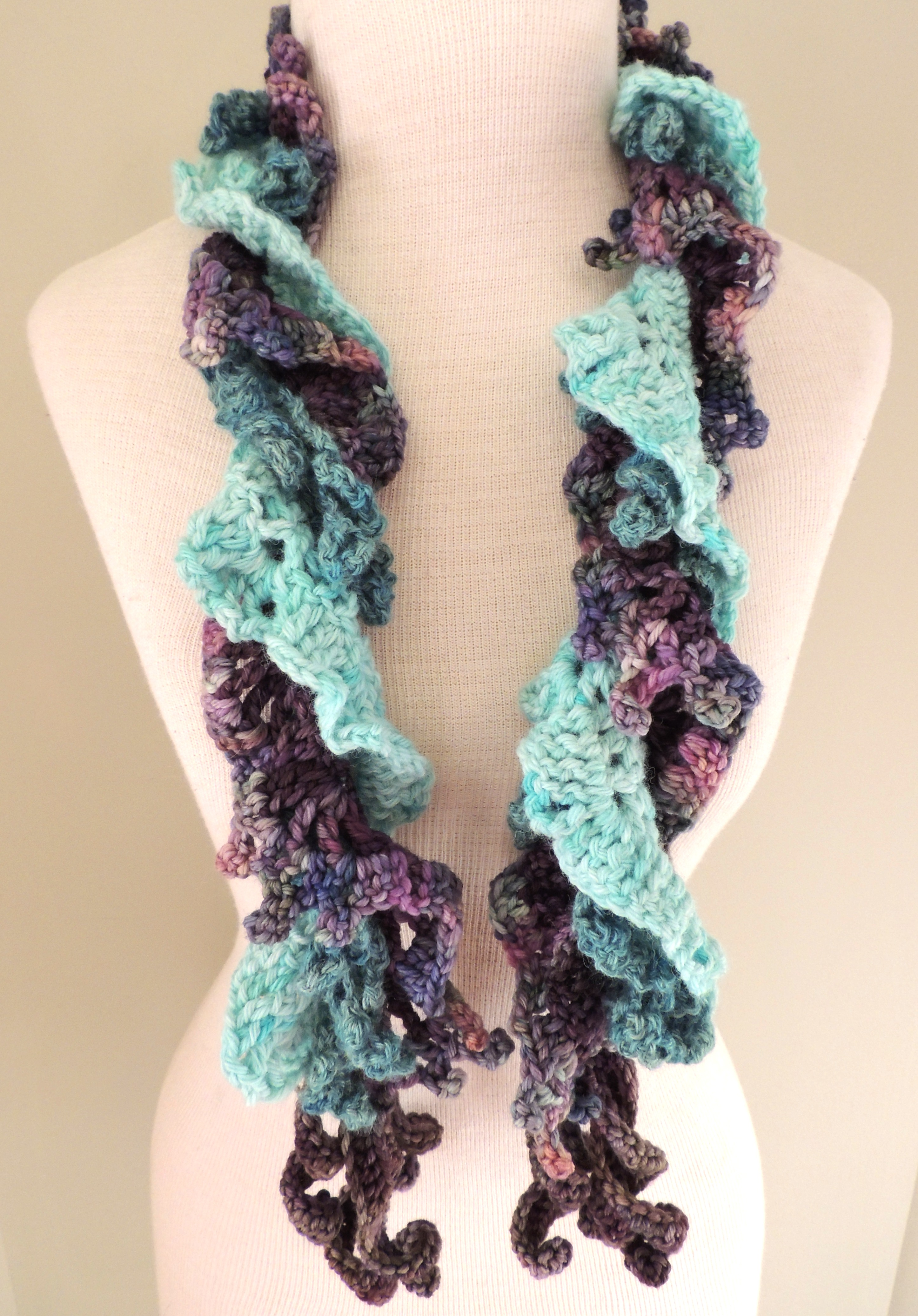 Knitting Pattern For Waterfall Scarf : Waterfall Serenity?Waterfall scarf   Valerie Baber Designs   Intricate Knits