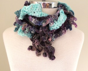 Waterfall Scarf, Ocean Colours
