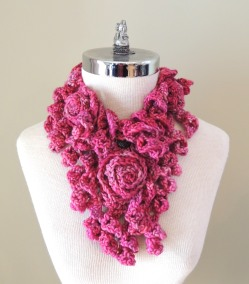 Rose Onie Bulky Scarf Pink