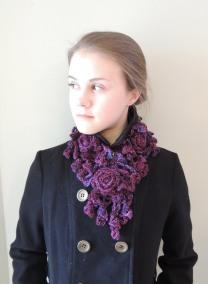 Rose Onie Bulky Scarf Purple