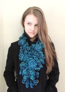 Rose Onie Bulky Scarf Teal