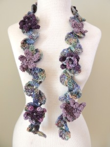 Floral Twist Accent Scarf