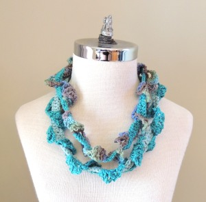 Abstract Vines Scarf Turquoise