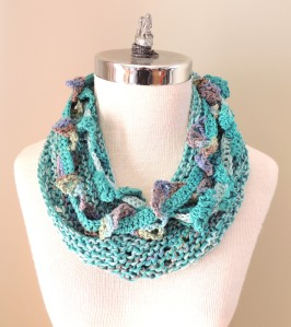 Turquoise Cotton Infinity scarf