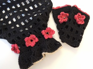 Shoji Cherry Blossom bolero and fingerless gloves