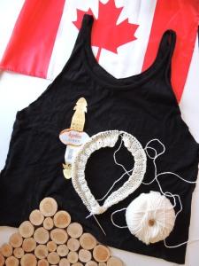 Canada Day Knitting