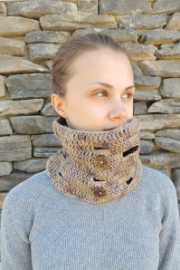 Vintage Stone Wall Cowl Scarf
