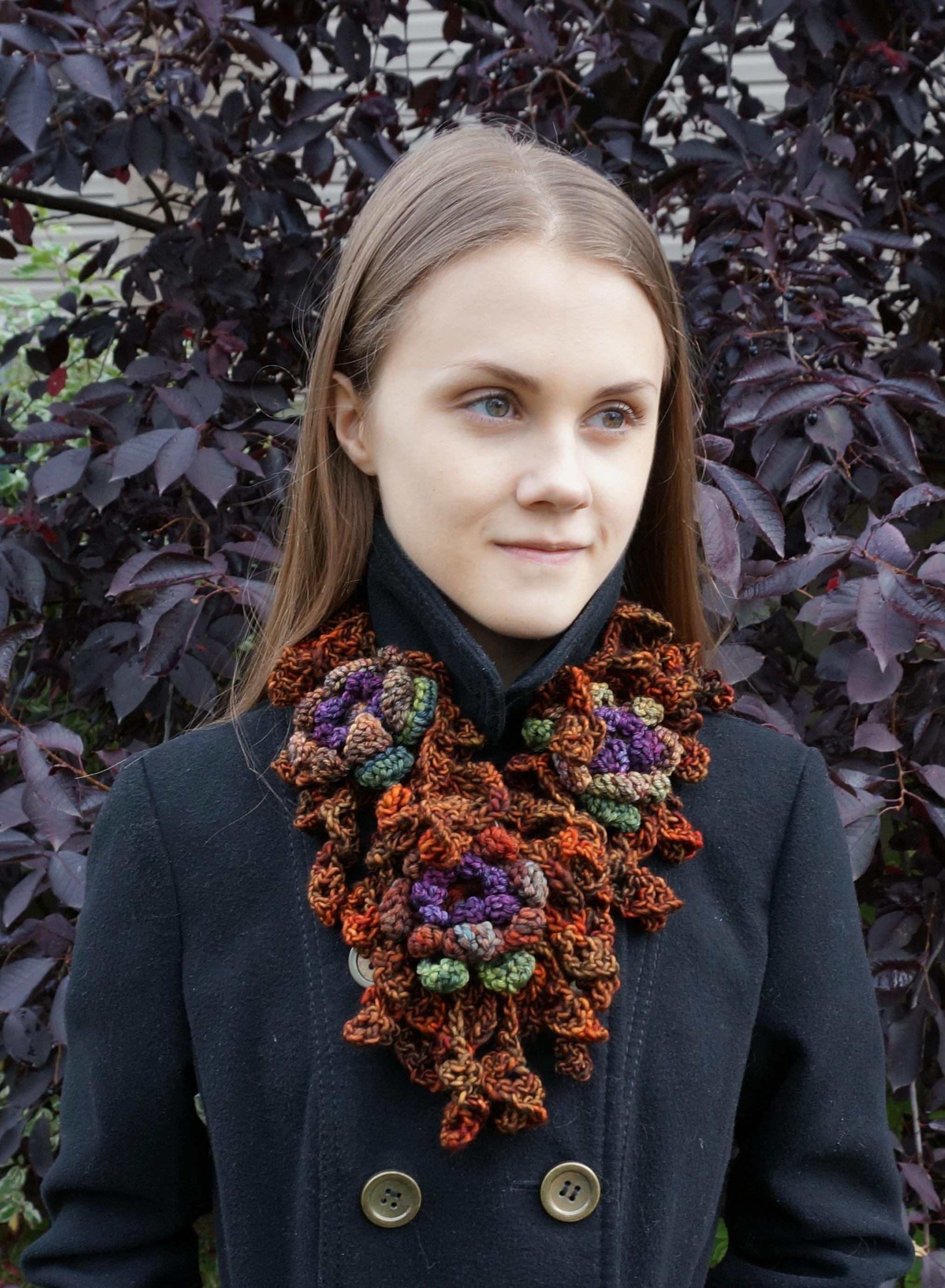 floral onie scarf orange 2