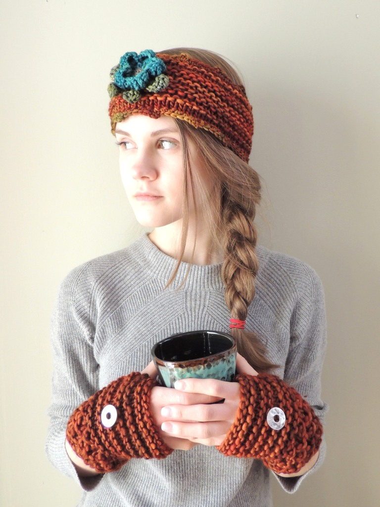 wild rose ear warmer orange teal2