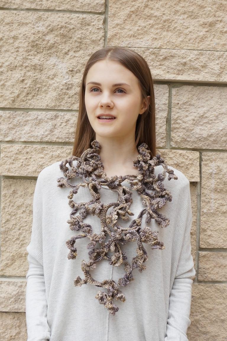 Stone Tracery Vine Frieze wearable art design