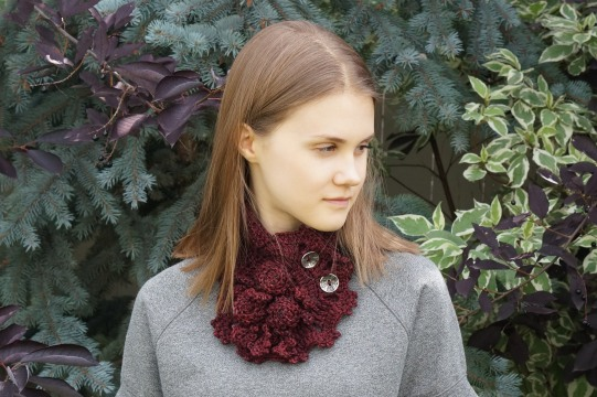 Roses R... Beautiful scarf burgandy2
