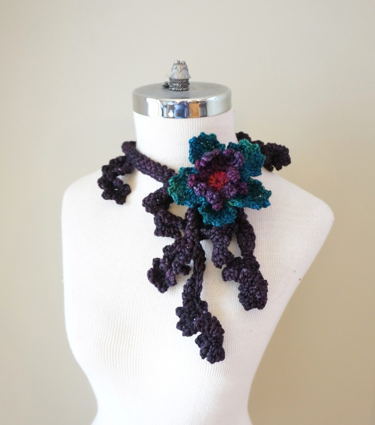 Floral Frieze accent scarf