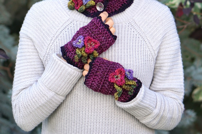 pansy hand warmers mulberry