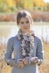 floral frieze vines scarf gothic ivory beige med14