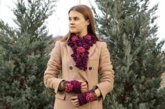 peony onie scarf long purple3