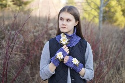 daisy scarf perwinkle5