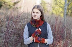 floral aster potted mum scarf orange7