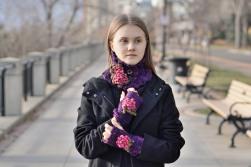 floral peony scarf hand warmer