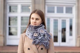 floral shawl scarf grey to mauve11