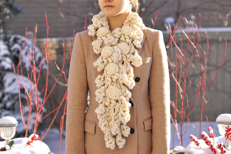 rose onie xlong bulky scarf ivory5