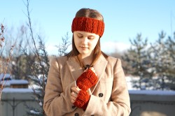 joy cable ear warmer orange