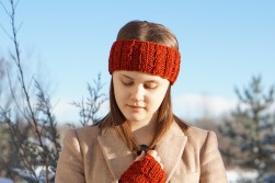 joy cable ear warmer orange1