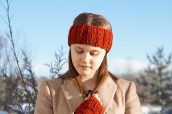 joy cable ear warmer orange1