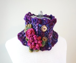 peony rose scarf purple1