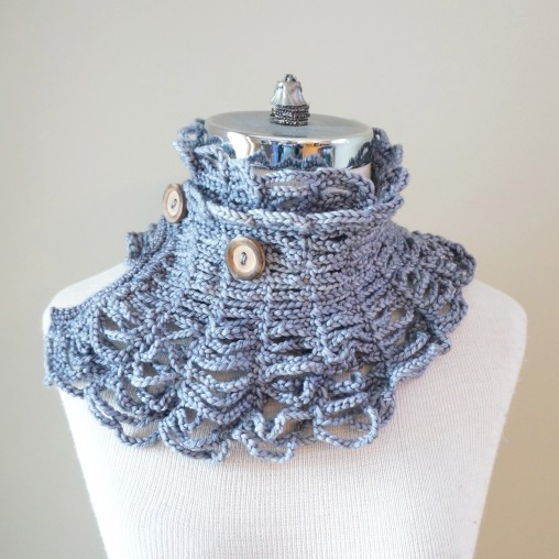 contemporary victorian scarf grey