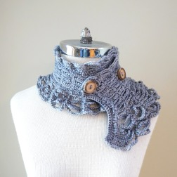 contemporary victorian scarf grey1