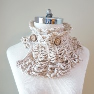 contemporary victorian scarf ivory