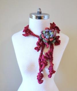 floral vines knit pink3