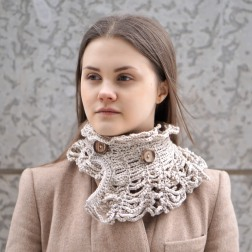 wired to the past collar scarf ivory