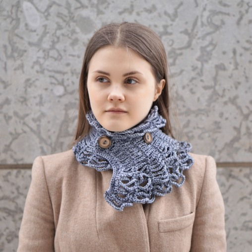 wired to the past collar scarf
