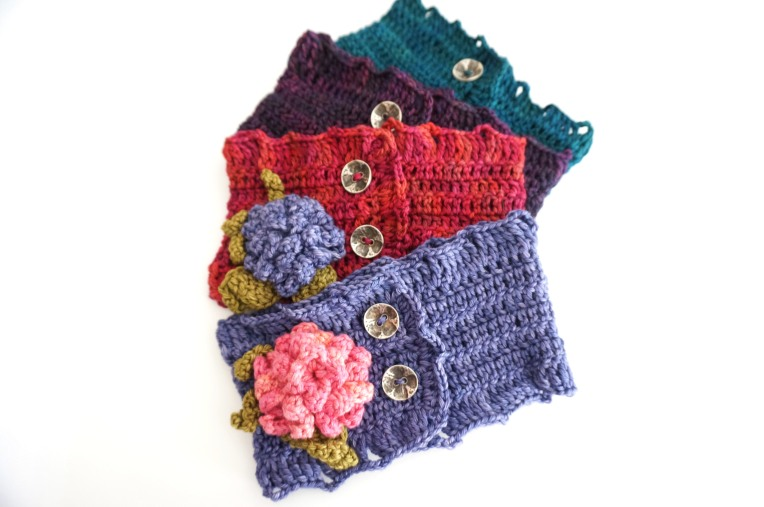 hydrangea scarf pink purple teal combos