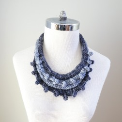 necklace scarf grey combo1