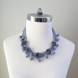 necklace scarf grey combo4