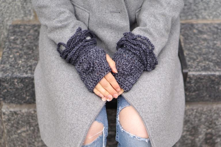 sophia rose classic hand warmers dk gray1
