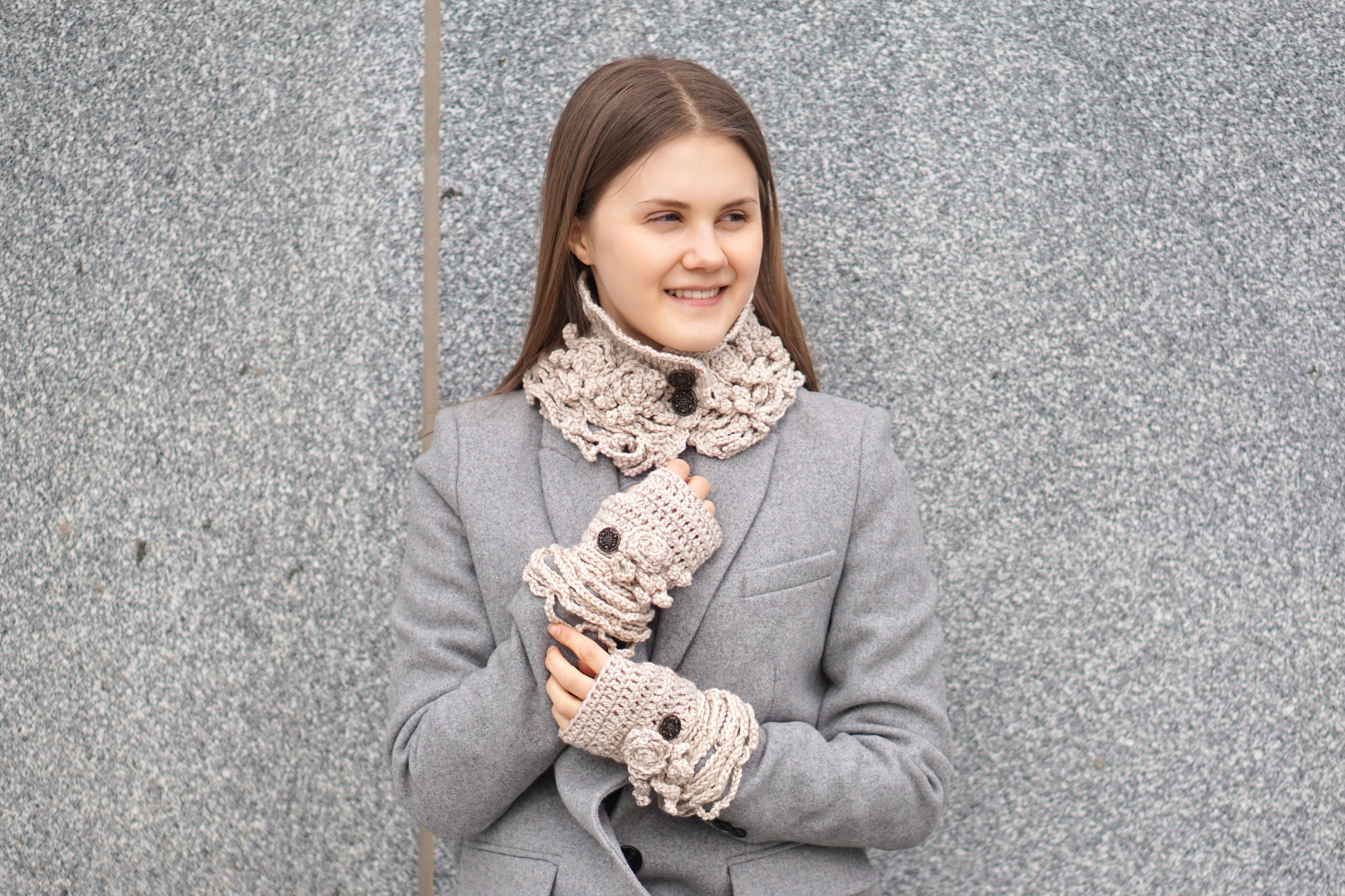 sophia rose eclectic collar scarf ivory